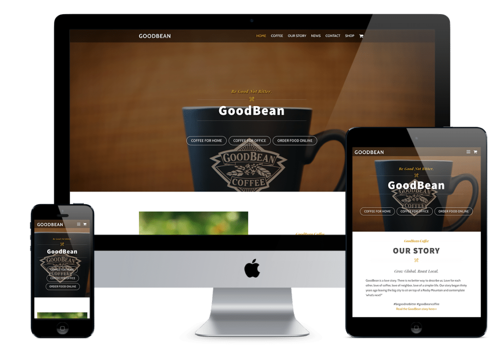GoodBean Coffee Website Design