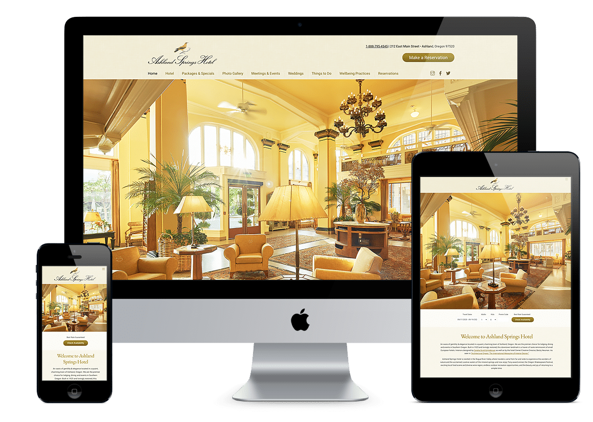 Ashland Springs Hotel Website Design