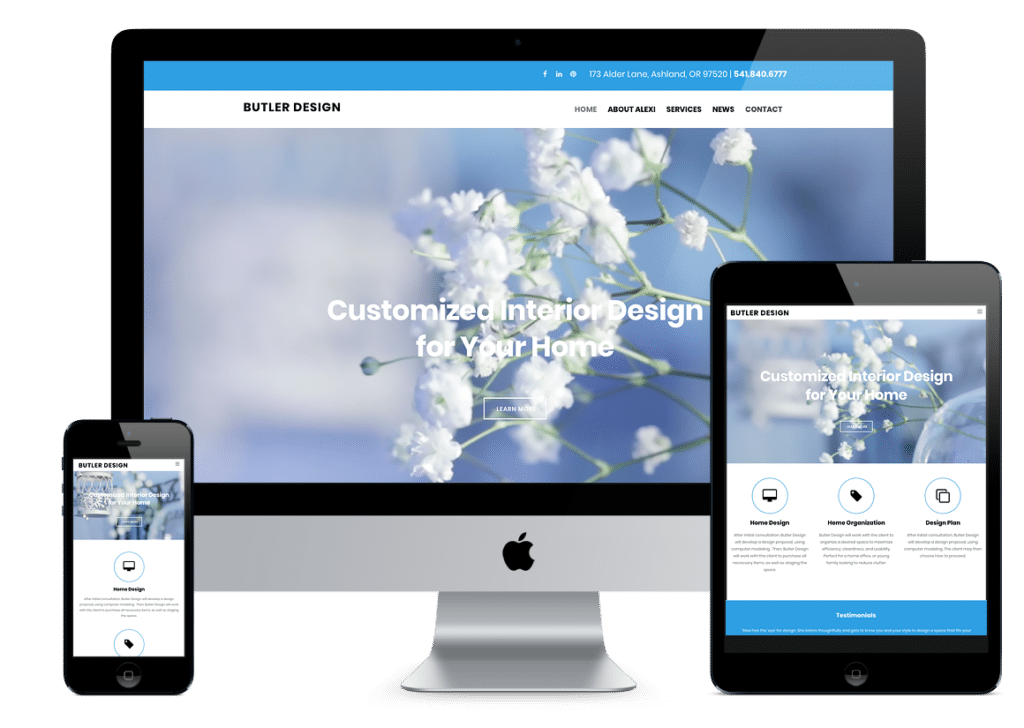 Butler Design Website